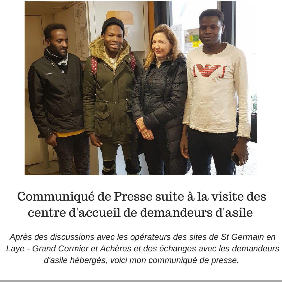 Communiqué de Presse suite à la visite des centres d'accueil de demandeurs d'asile