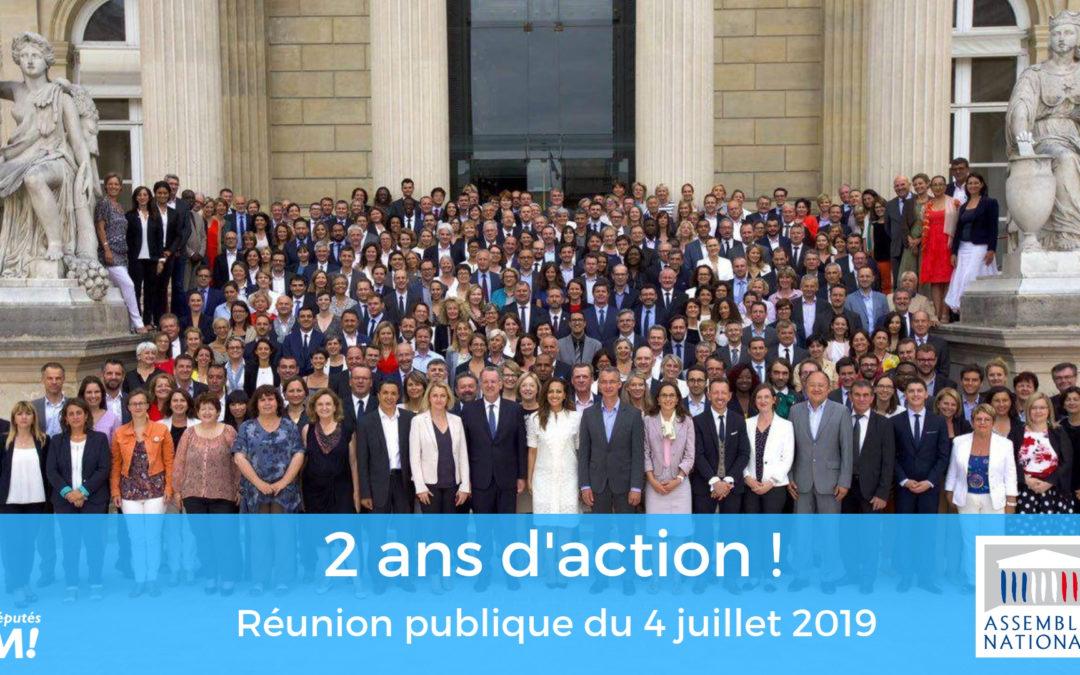 Réunion Publique : 2 ans d'action !