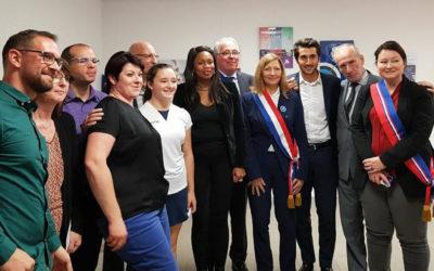 Visite de Laura Flessel à Achères et à St-Germain-en-Laye