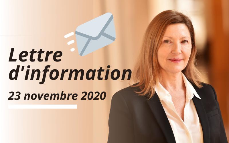 Lettre d'information – Novembre #2