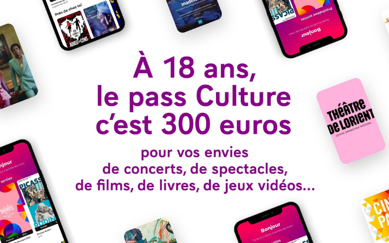 Communiqué : Tous les jeunes de 18 ans peuvent désormais bénéficier d'un pass Culture de 300 €