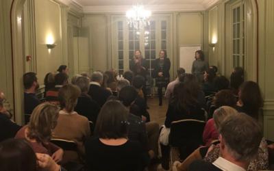 Réunion de travail avec les députées Cécile Rilhac et Béatrice Piron sur la fonction du directeur d'école