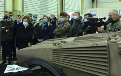 Inauguration du Battlelab Terre au Camp Satory aux côtés de la Ministre des Armées Florence Parly