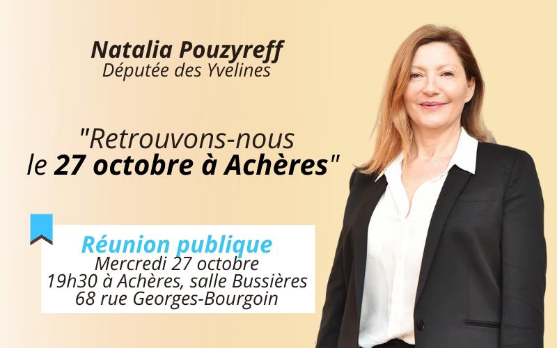 À venir : Réunion publique à Achères
