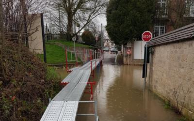 Crue de la Seine : déplacement à Villennes-sur-Seine
