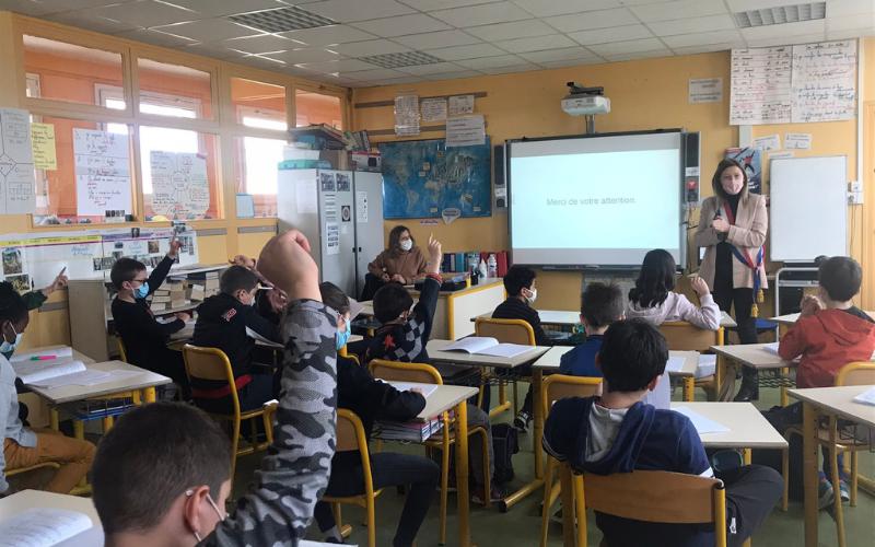 Parlement des Enfants à l'école Joliot Curie d'Achères