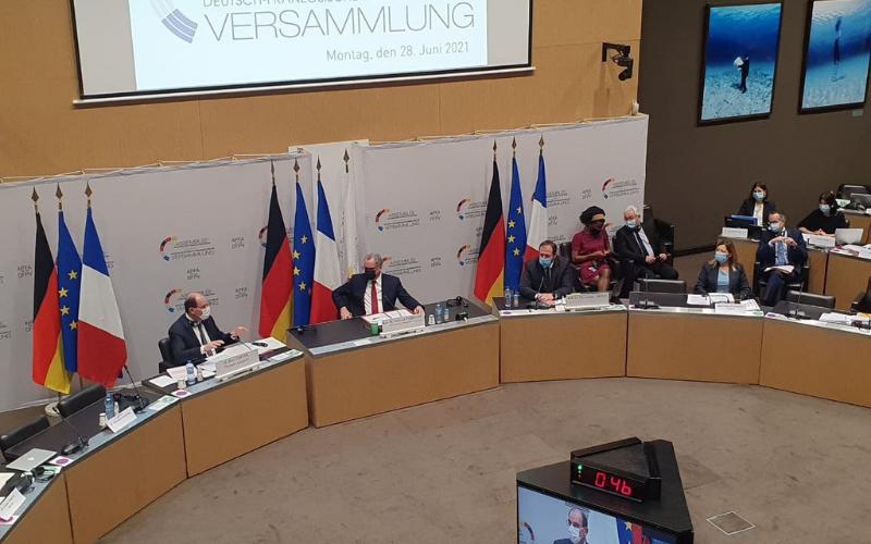 Réunion plénière de l'Assemblée parlementaire franco-allemande
