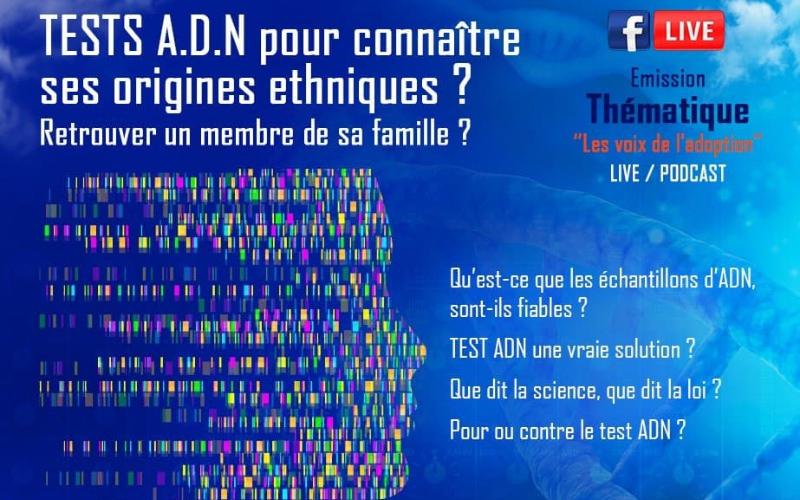 Participation à la webradio de la Voix des Adoptés – Tests ADN