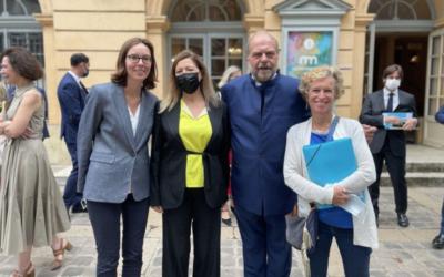 Déplacement des Ministres Éric Dupond-Moretti et Amélie de Montchalin