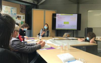 À Intégraterre (Achères) pour parler économie sociale et solidaire