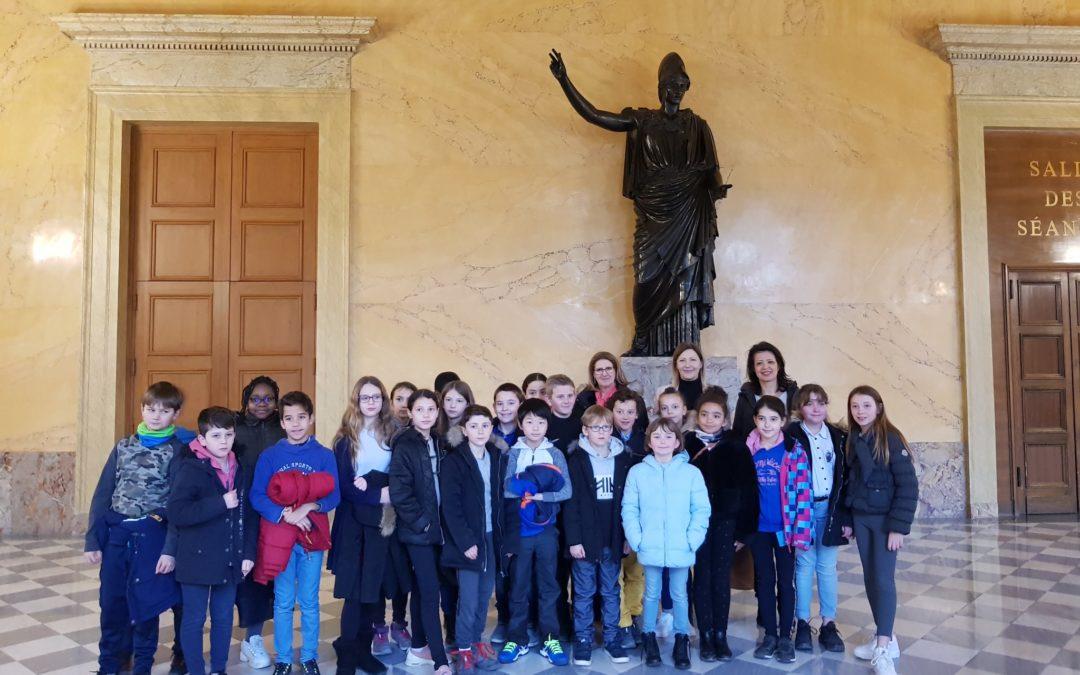 Visite de l'Assemblée nationale – École Félix Éboué du Pecq