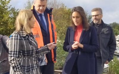 Communiqué de presse : visite de la Ministre Brune Poirson à la plaine de Carrières-sous-Poissy