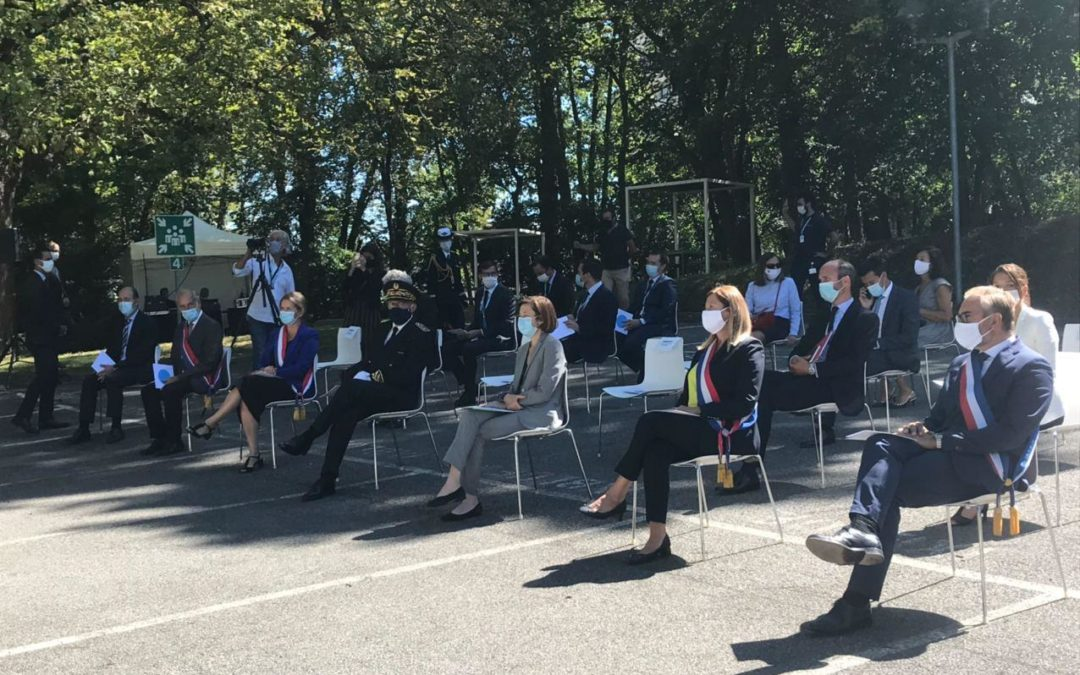 Visite de la Ministre des Armées, Florence Parly, à iXblue, basée à Saint-Germain-en-Laye