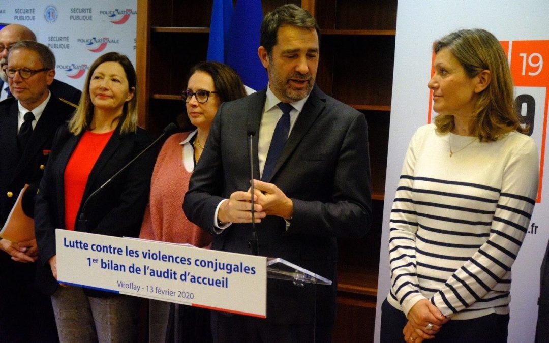 Lutte contre les violences conjugales – Premier bilan de l'audit d'accueil des victimes avec le Ministre Christophe Castaner